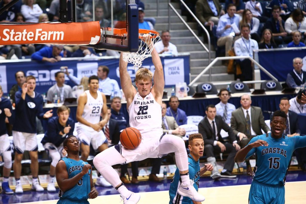 Eric Mika, BYU vs. Coastal Carolina, Provo, Utah, Nov. 19, 2016 | Photo by BYU Photo