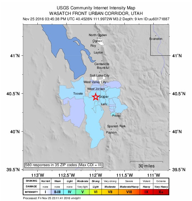 Utah Residents Feel The Shakes During Mild 32 Earthquake