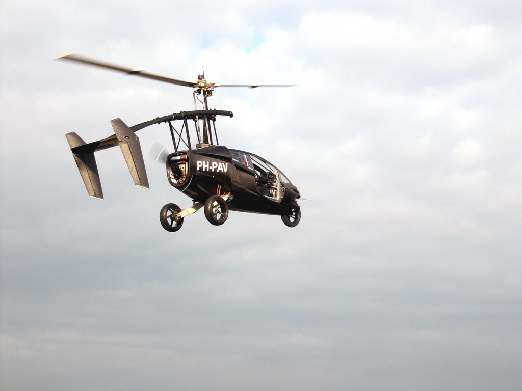 The PAL-V prototype flying car is in the air recently in The Netherlands. The company has opened up a flight school in Roosevelt to train people who have committed to buy the vehicle when it is released. The Netherlands, undated | Photo courtesy of www.pal-v.com, St. George News