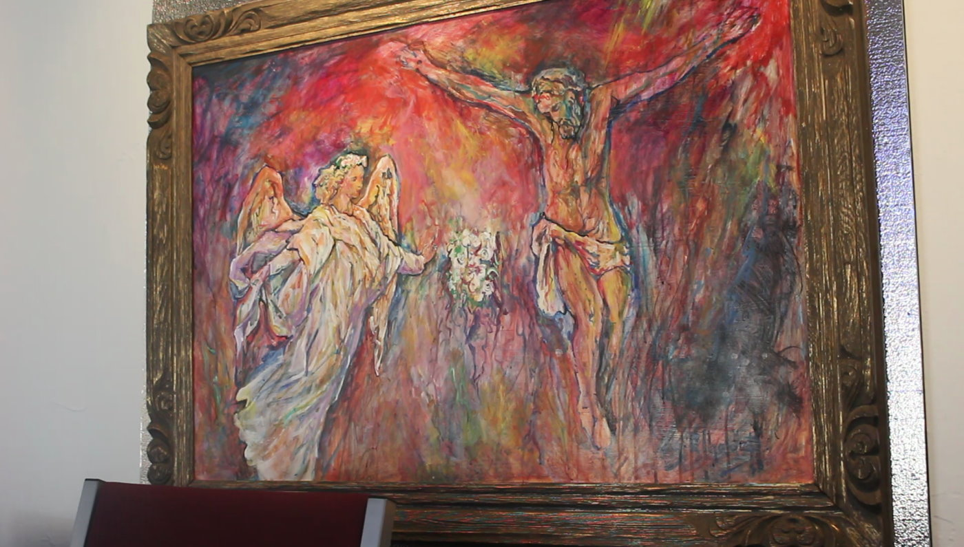 A painting by Gustave Alhadeff at Solomon's Porch Foursquare Fellowship in St. George. Alhadeff donated the five paintings to the church after it helped him during a bad time in his life, St. George, Utah, Nov. 13, 2016 | Photo by Mori Kessler, St. George News