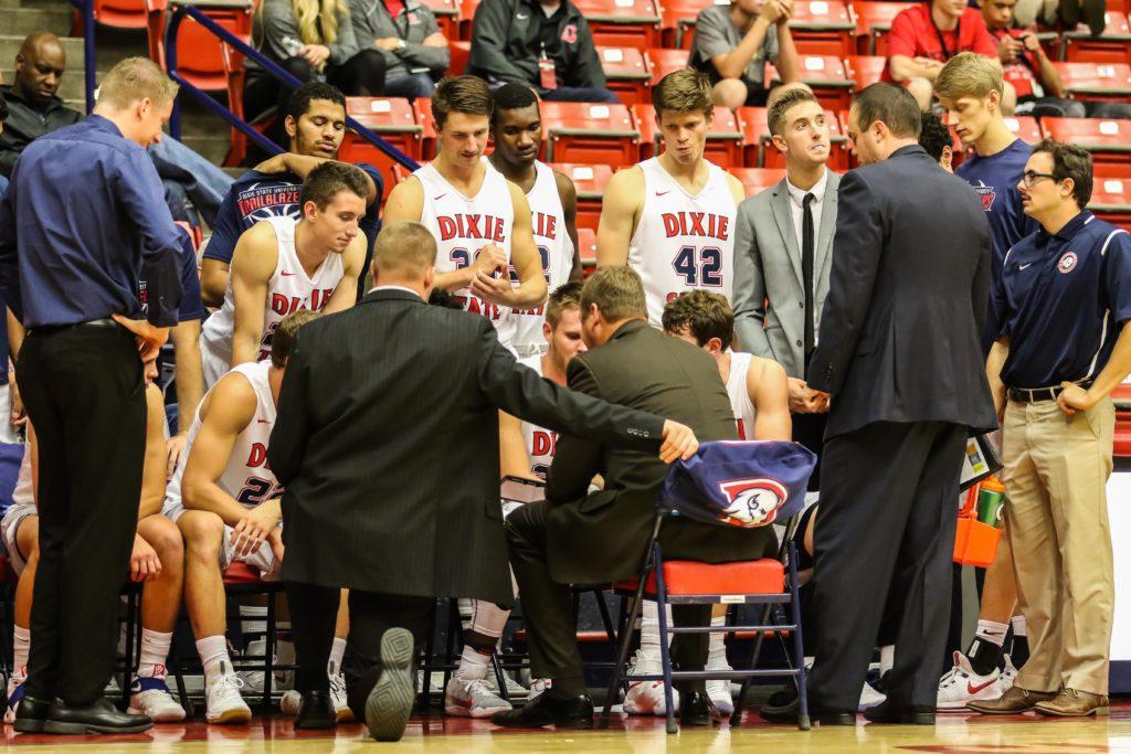 Dixie State University vs. Western Oregon University, Men's Basketball, St. George, Utah, Nov. 26, 2016, | Photo by Kevin Luthy, St. George News
