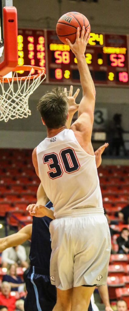 Dixie State's Dub Price (30), Dixie State University vs. Sonoma State University, Men's Basketball, St. George, Utah, Nov. 25, 2016, | Photo by Kevin Luthy, St. George News