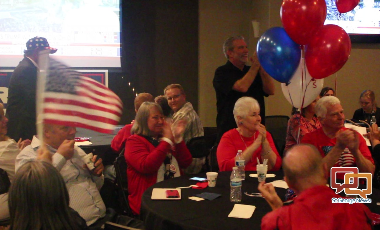 At the Washington County Repiublicans' election night party held at the Falls Event Center, St. George, Utah, Nov. 8, 2016 | Photo by Mori Kessler, St. George News