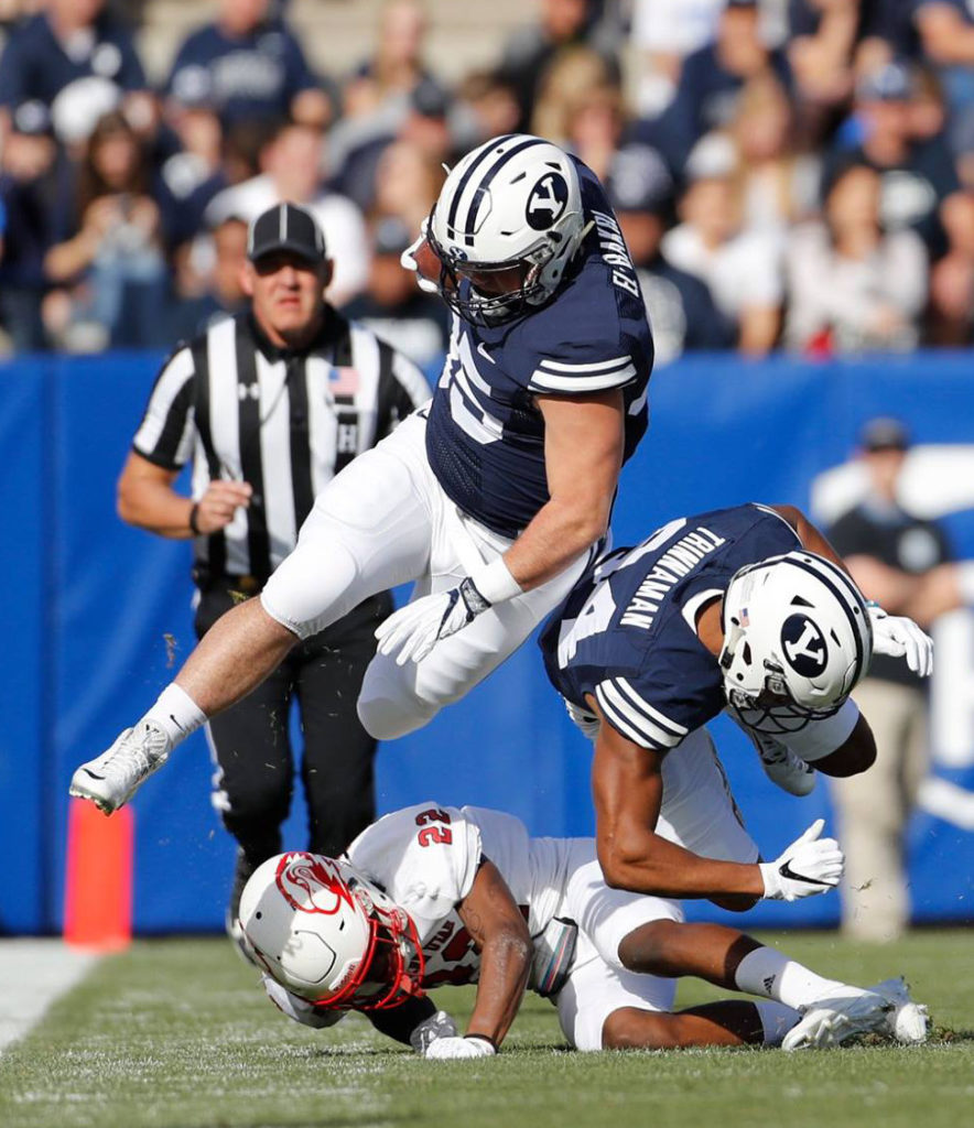 Brayden El-bakri (35), SUU at BYU, college football, Provo, Utah, Nov. 12, 2016 | Photo by BYU Photo