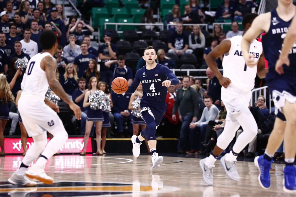 Nick Emery, Utah State vs. BYU at Vivint Smart Home Arena, Salt Lake City, Utah, Nov. 30, 2016 | Photo by BYU Photo