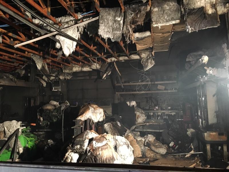 A fast-moving fire consumed the service garage at D & P Performance in Cedar City, Monday, Dec. 19, 2016, Cedar City, Utah | Photo courtesy of Cedar City Police Department, St George News / Cedar City News