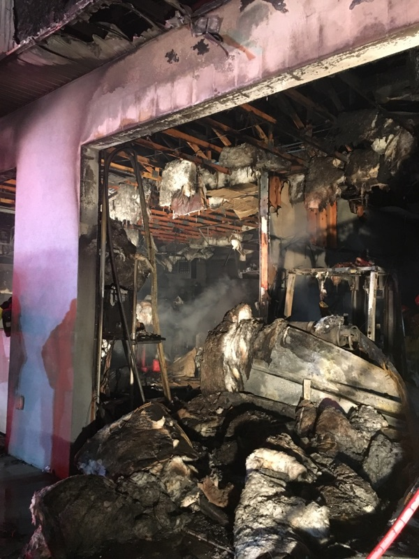 A fast-moving fire consumed the service garage at D & P Performance in Cedar City, Monday, Dec. 19, 2016, Cedar City, Utah | Photo courtesy of Cedar City Police Department, St George News / Cedar City News