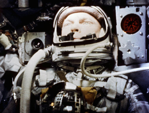 """In this Feb. 20, 1962 photo made available by NASA, astronaut John Glenn pilots the """"Friendship 7"""" Mercury spacecraft during his historic flight as the first American to orbit the Earth. Glenn, who later spent 24 years representing Ohio in the Senate, has died at 95. (NASA via AP)"""