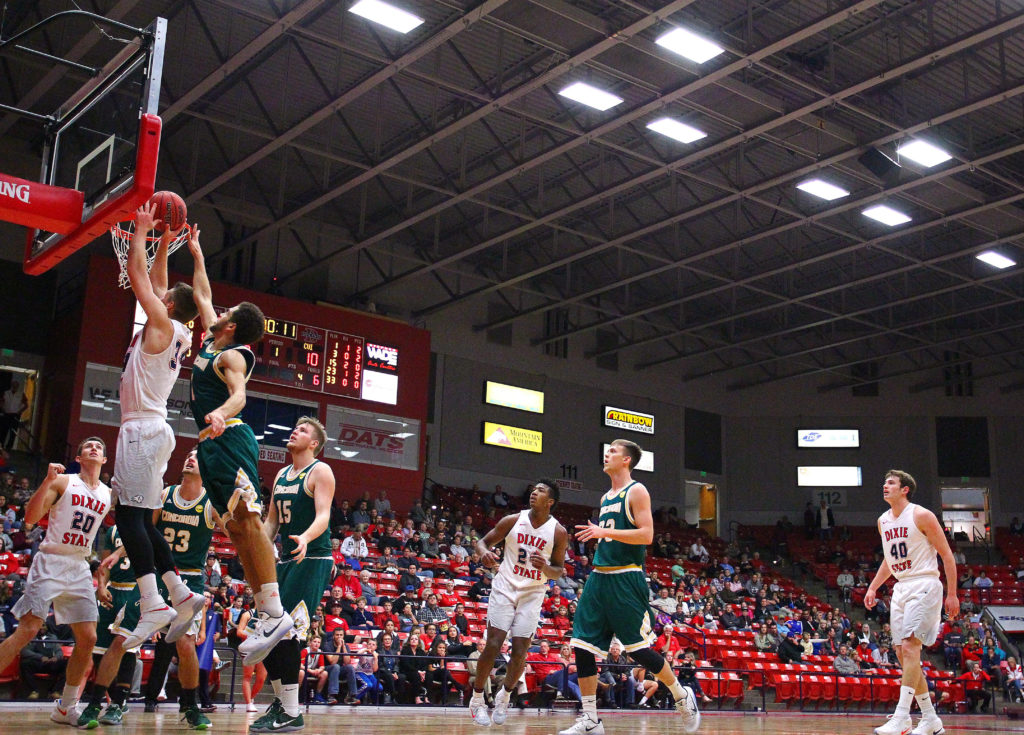 Dixie State University vs. Concordia University Irvine, Men's Basketball, St. George, Utah, Dec. 3, 2016, | Photo by Robert Hoppie, ASPpix.com, St. George News