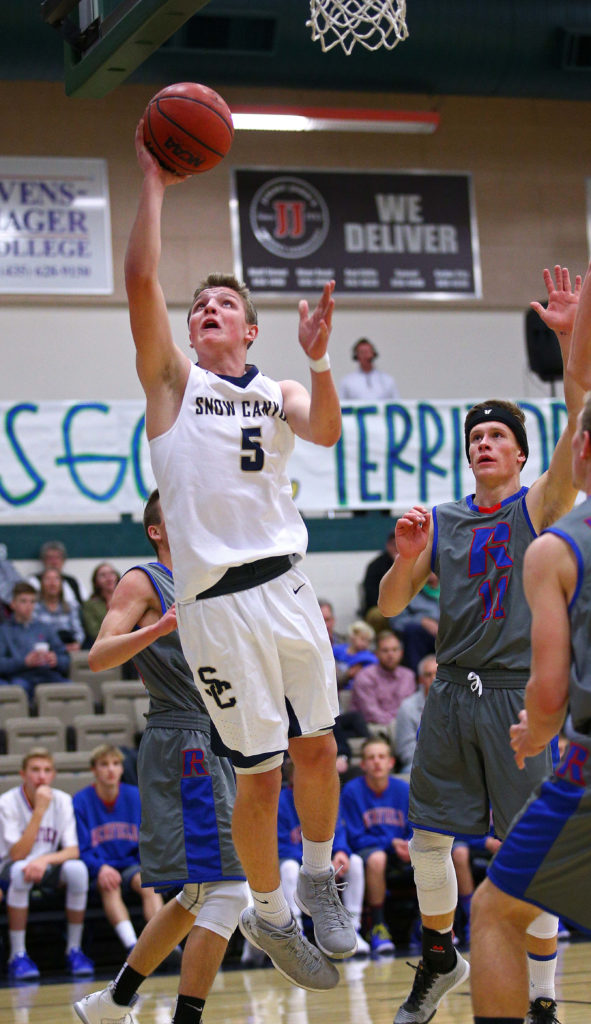 File photo of Snow Canyon's Kameron Webster (5), Snow Canyon vs. Richfield, Boys Basketball, St. George, Utah, Dec. 7, 2016, | Photo by Robert Hoppie, ASPpix.com, St. George News