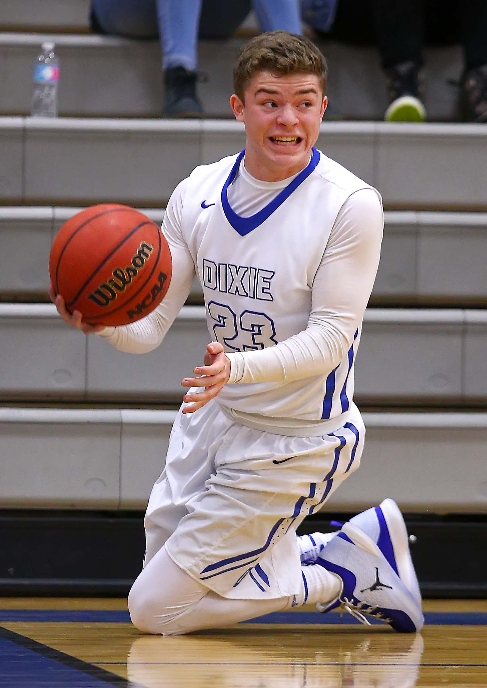 Dixie's Camden Flinders (23), Dixie vs. Spanish Fork, Boys Basketball, St. George, Utah, Dec. 9, 2016, | Photo by Robert Hoppie, ASPpix.com, St. George News