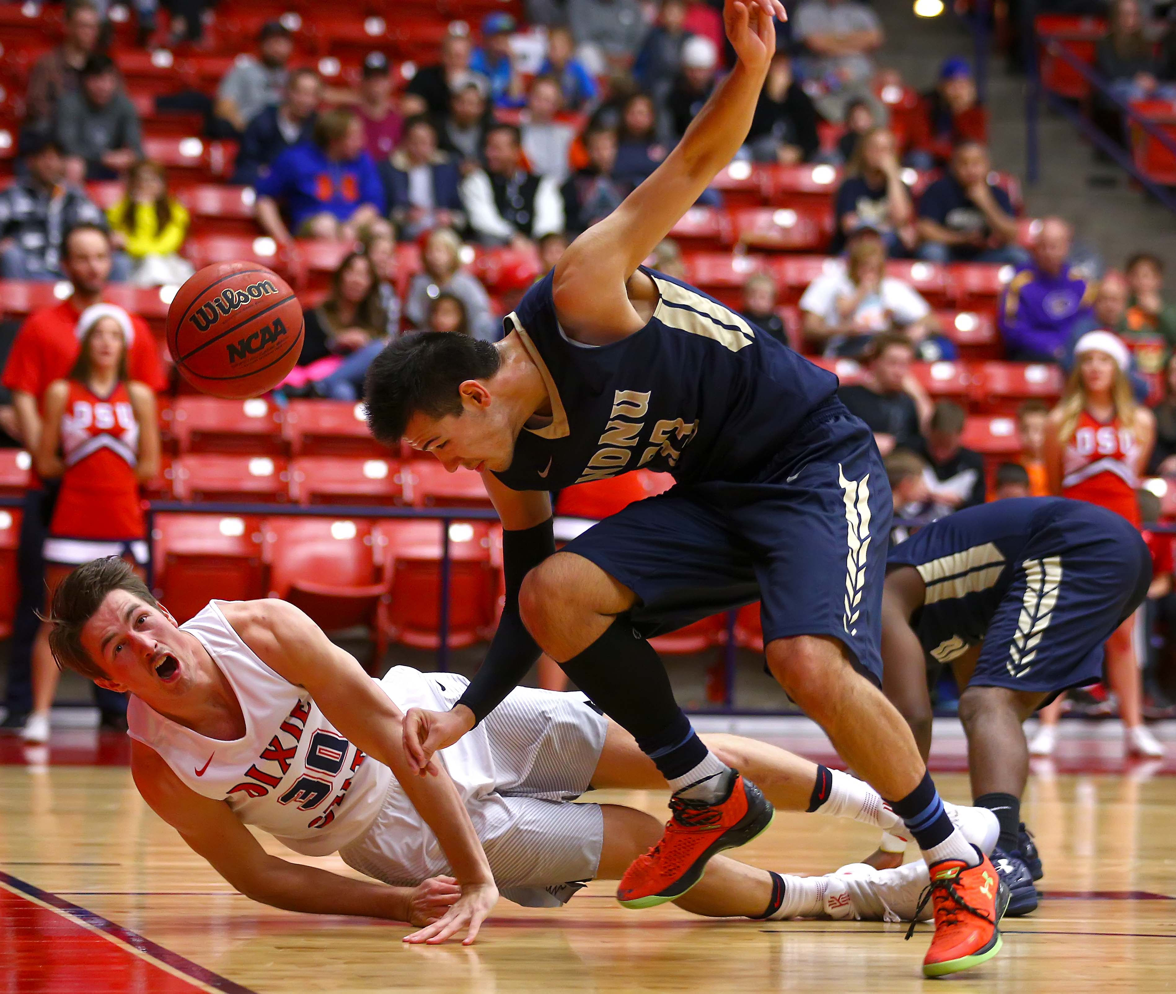Dixie State's Dub Price (30), Dixie State University vs. Notre Dame de Namur University, Men's Basketball, St. George, Utah, Dec. 17, 2016, | Photo by Robert Hoppie, ASPpix.com, St. George News