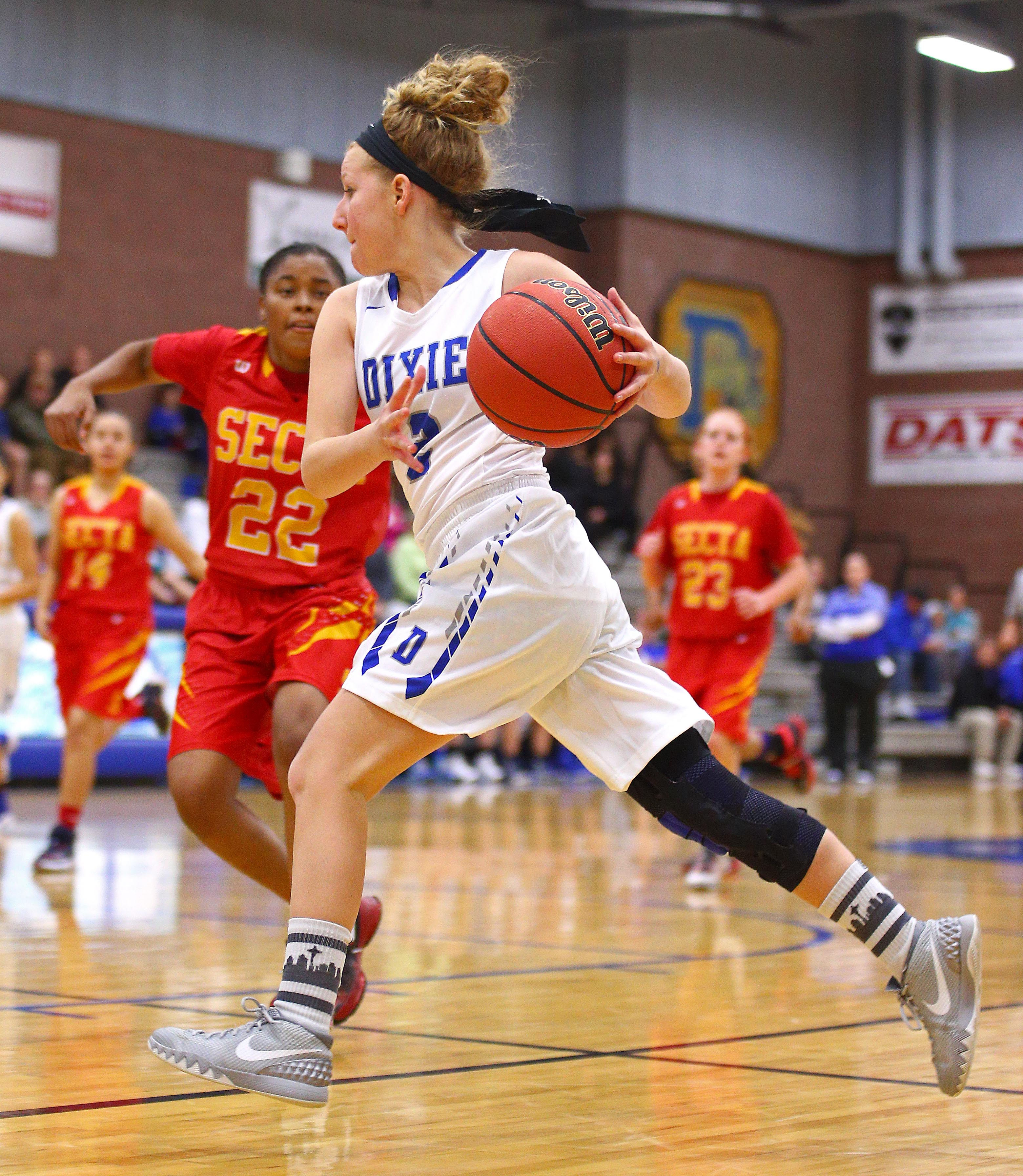 Dixie vs. Southeast Career Tech (NV), Girl's Basketball, St. George, Utah, Dec. 2, 2016, | Photo by Robert Hoppie, ASPpix.com, St. George News