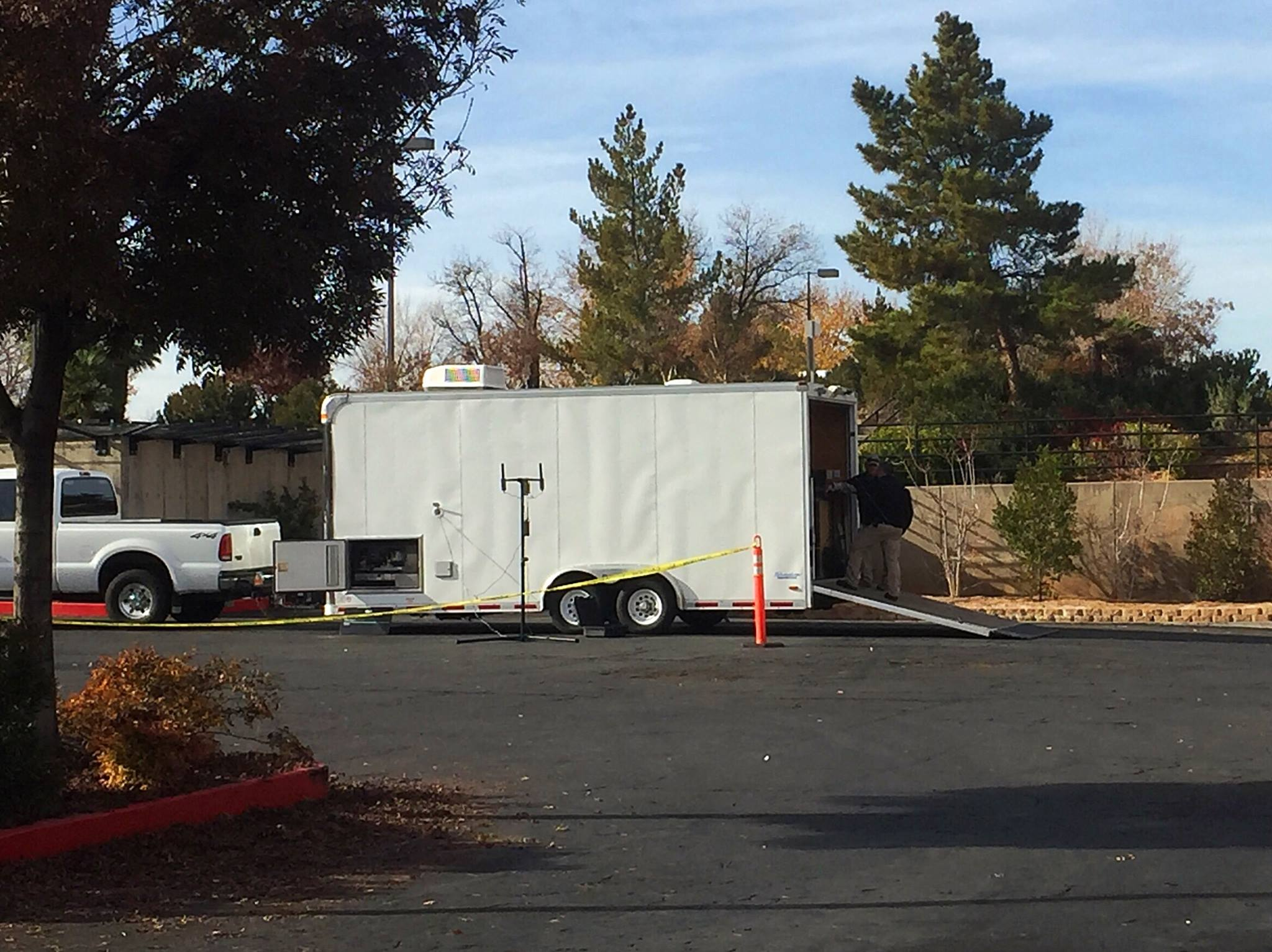 "Dixie Regional Medical Center teamed up with the St. George Police Department and Southern Utah Bomb Squad to participate in a bomb threat emergency drill that included a mock scenario involving a ""suspicious package"" found on hospital grounds, St. George, Utah, Dec. 14, 2016 