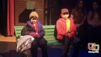 l r mason bang as linus and luke belnap as charlie brown star in st george musical theaters production of a charlie brown christmas st george utah - Charlie Brown Christmas Cast