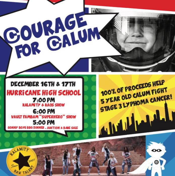 """Courage for Calum"" concert flyer 