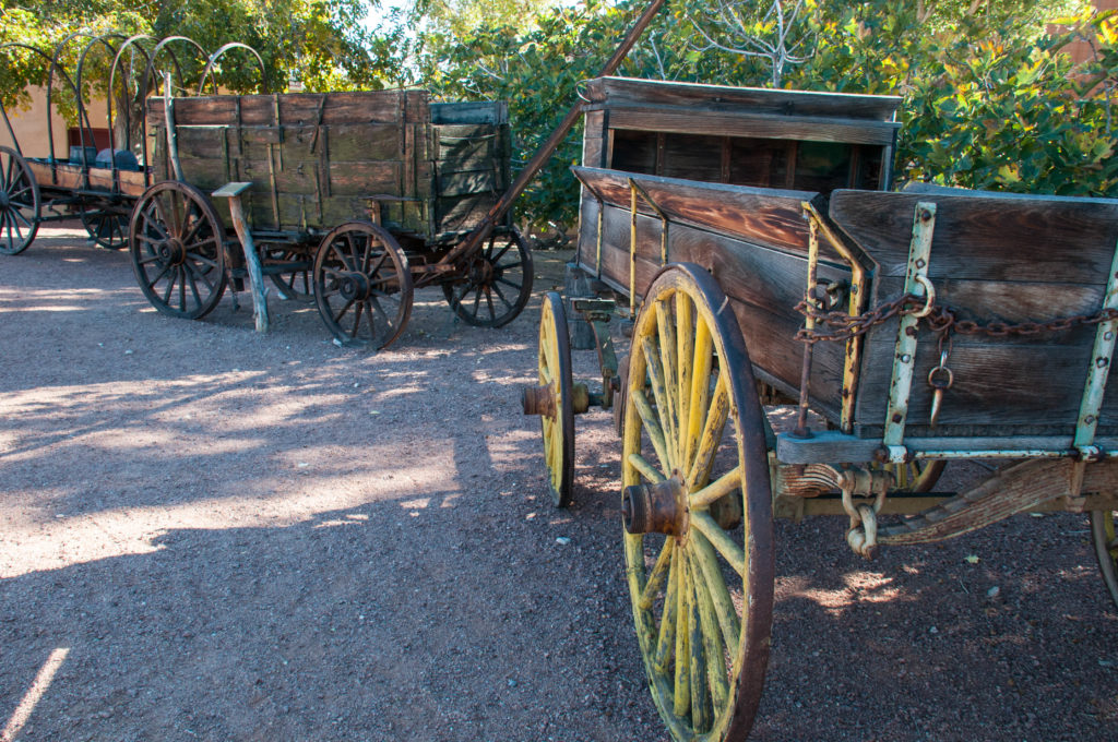 Freight wagons, Old Las Vegas Mormon Fort State Historic Park, Las Vegas, Nevada, Nov. 22, 2016 | Photo by and courtesy of Kathy Lillywhite, St. George News
