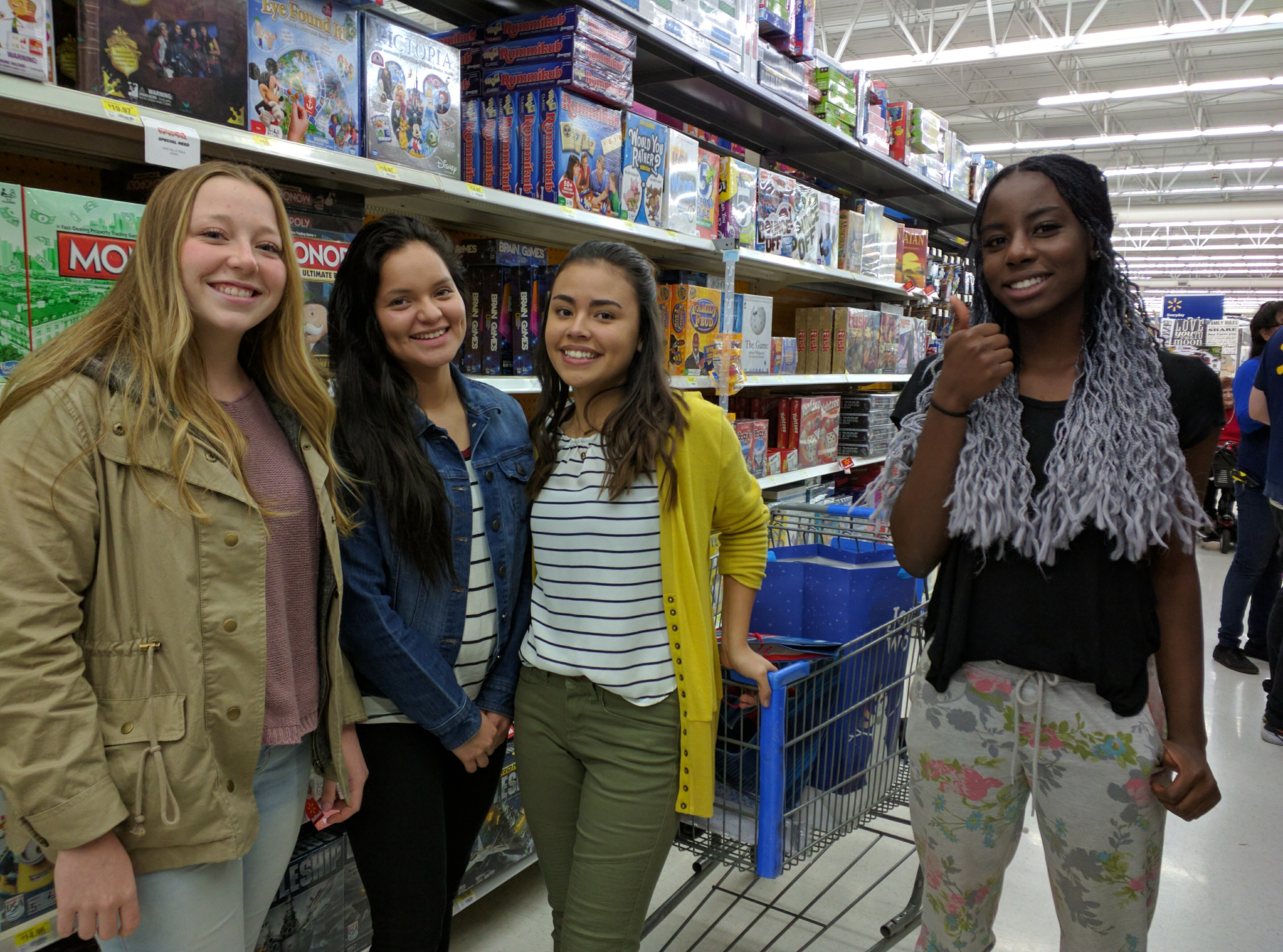 Dixie High School students shop for the school's Angel Tree project, St. George, Utah, Dec. 12, 2016 | Photo by Joseph Witham, St. George News