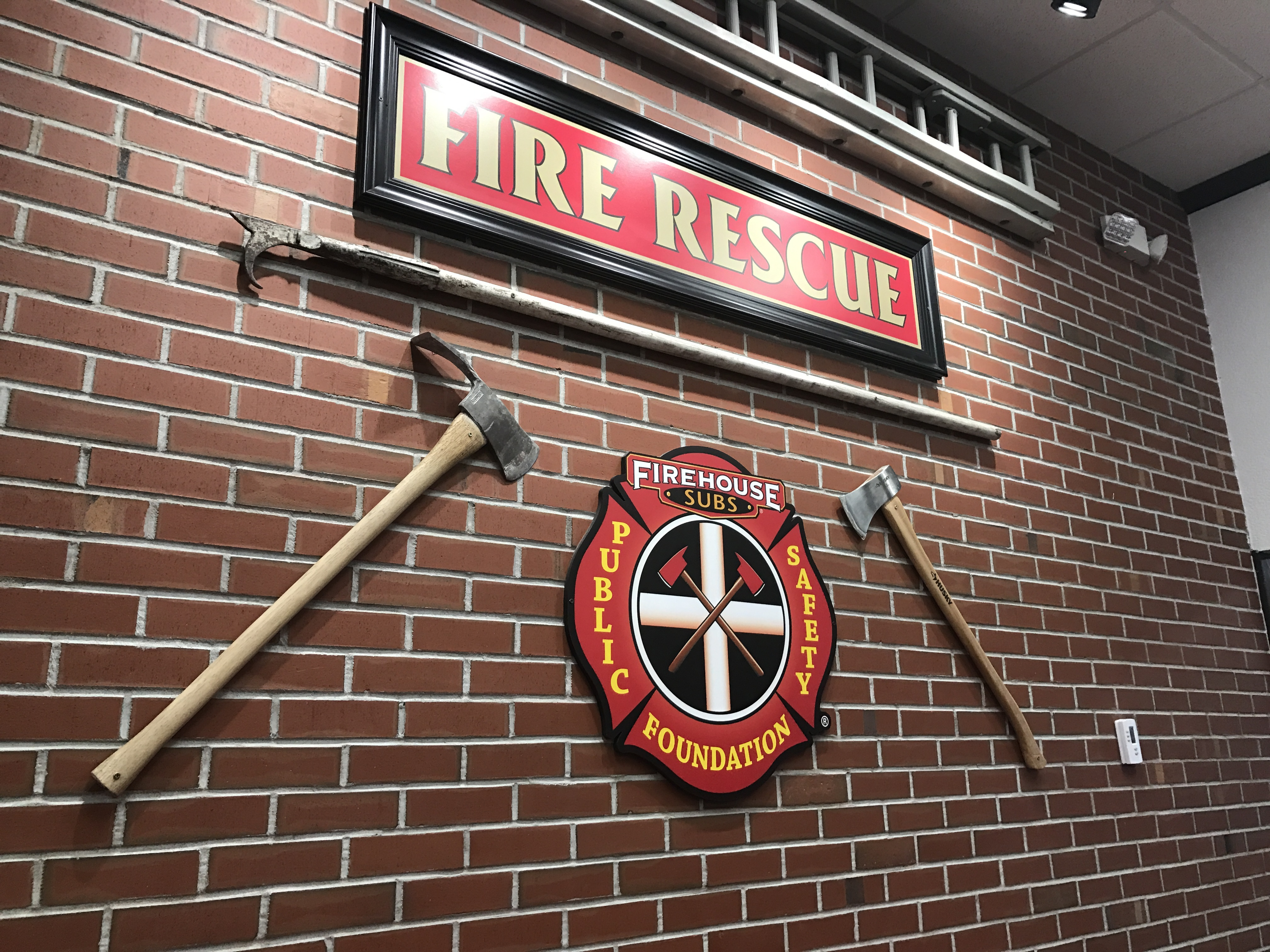 Firehouse Subs donated nearly $10,000 to the Cedar City Fire Department Thursday in the form of a dryer that will allow the firefighters to dry their suits faster now, Cedar City, Utah, Dec. 22, 2016 | Photo by Tracie Sullivan, St. George / Cedar City News