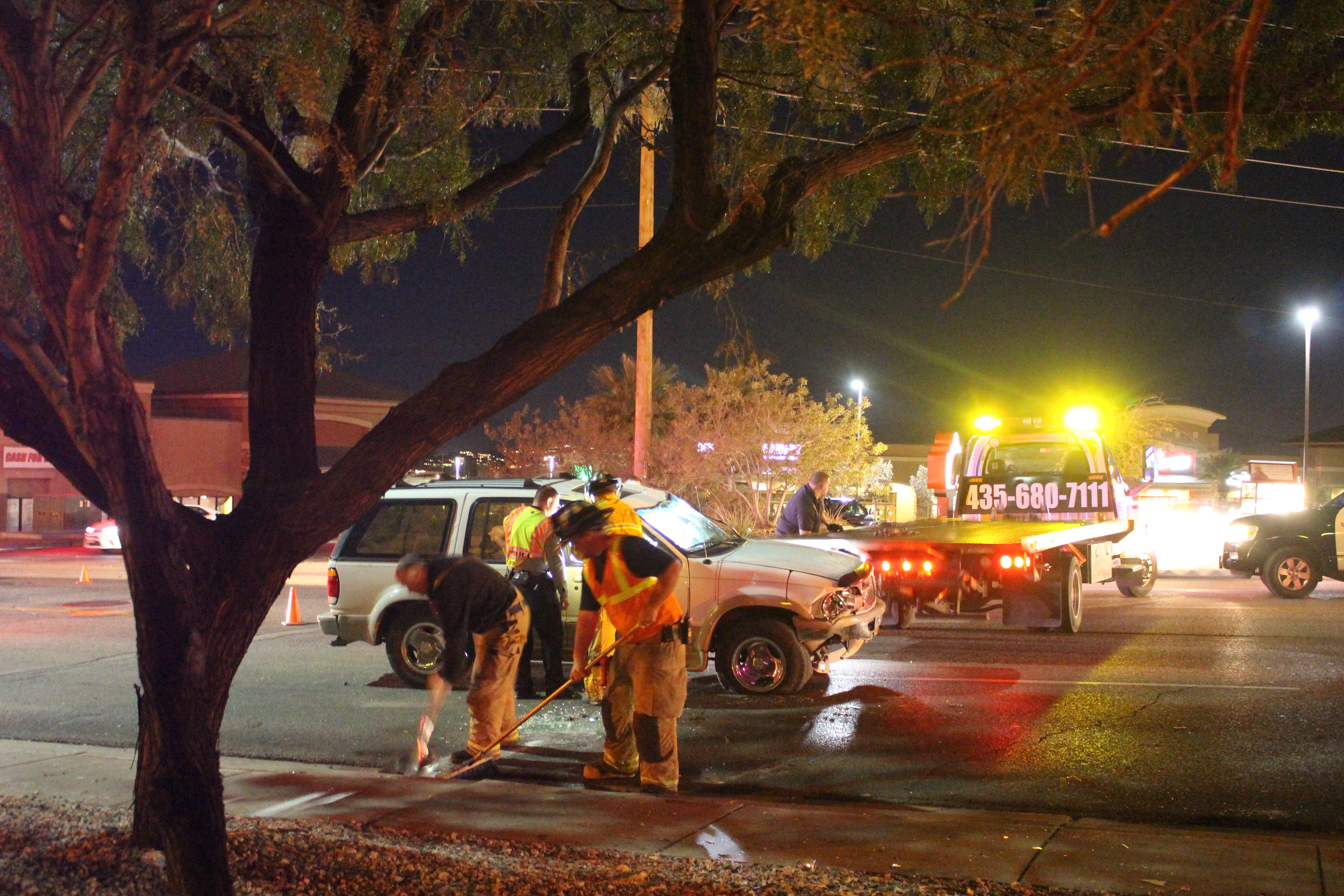 Emergency personnel respond to the scene of a rollover, Washington City, Utah, Dec. 11, 2016   Photo by Joseph Witham, St. George News