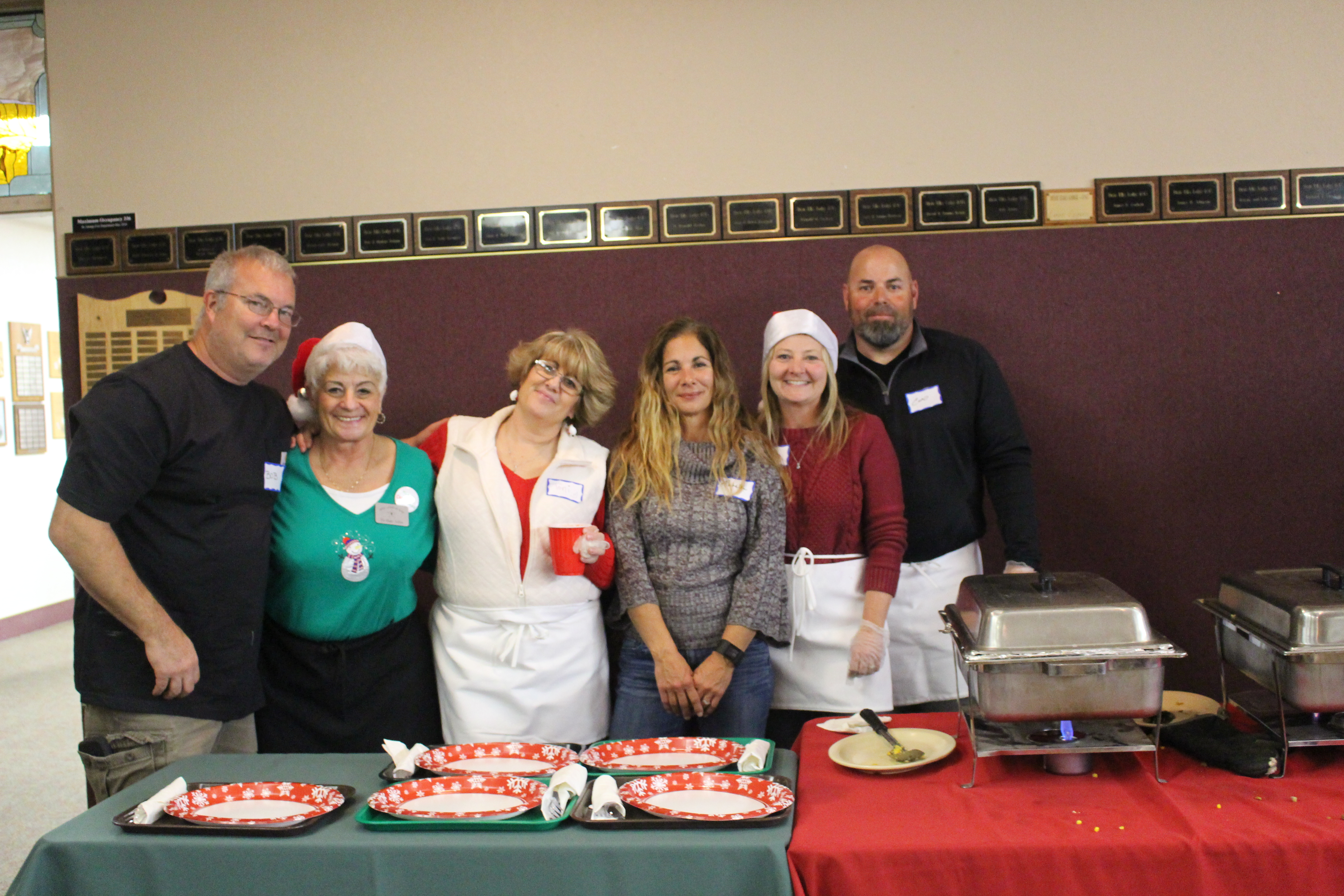 Dixie Elks Lodge 1743 members volunteer their time cooking and serving the Community Soup Kitchen's Christmas dinner to the homeless and less fortunate at the Dixie Elks Lodge in St. George, Utah, Dec. 25, 2016 | Photo by Cody Blowers, St. George News