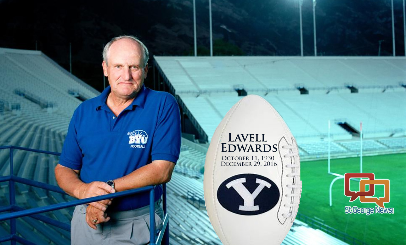 LaVell Edwards, who led BYU to national prominence with his dynamic passing offenses and ranks as one of the most successful coaches in college football history, died Thursday, Dec. 29, 2016 at age 86 | File photo, St. George News