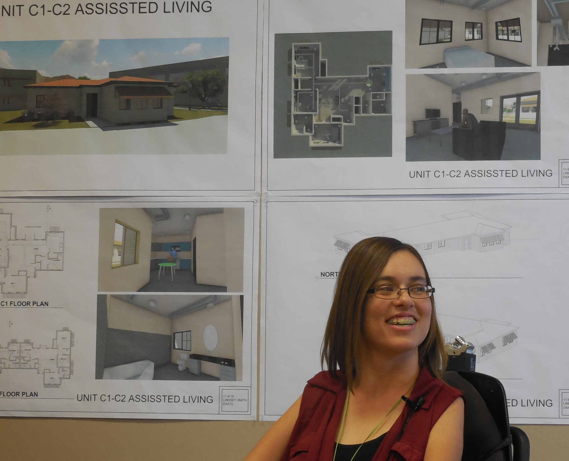 Lindsey Smith presents her final project in Drafting and Design at Dixie Applied Technology College, St. George, Utah, Nov. 8, 2016 | Photo by Julie Applegate, St. George News