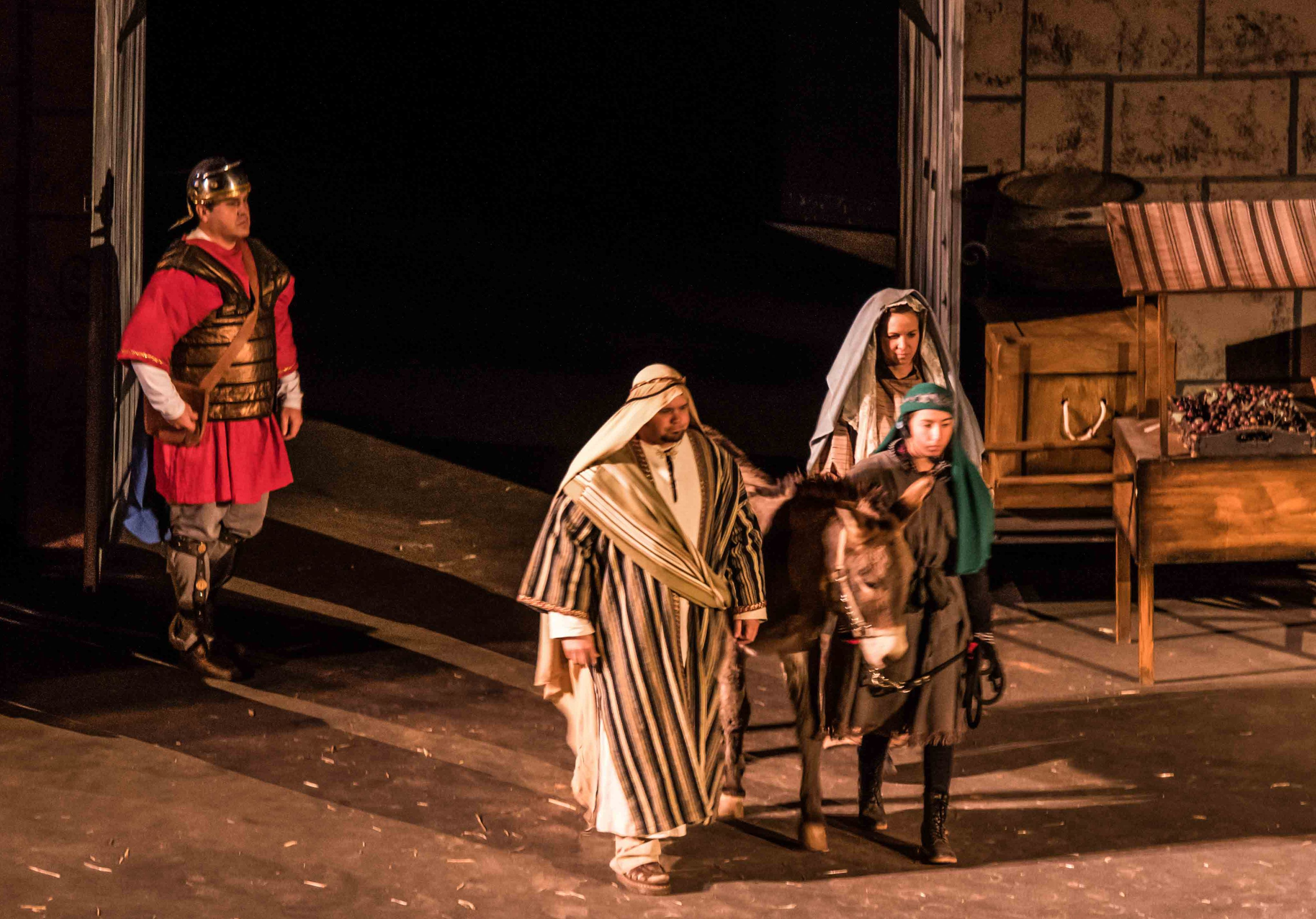 Mary and Joseph entering the gates of Bethlehem during the Tuacahn Live Nativity. Ivins, Utah, Dec. 5, 2016   Photo courtesy of Jim Lillywhite, St. George News