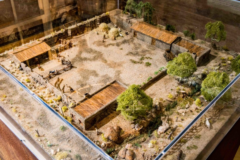 Model of original fort, Old Las Vegas Mormon Fort State Historic Park, Las Vegas, Nevada, Nov. 11, 2016 | Photo by and courtesy of Jim Lillywhite, St. George News