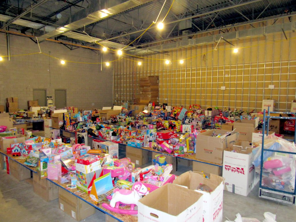 Toys are arranged and waiting to be bagged at the Toy For Tots facility, St. George, Utah, Dec. 17, 2016 | Photo Courtesy of William Fortune, St. George News