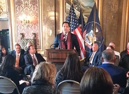 Utah Attorney General Sean Reyes says the state will file a lawsuit Bears Ears is made a national monument by outgoing President Barrak Obama, Salt Lake City, Utah, Dec. 17, 2016 | Photo courtesy of the office of Sen. Orrin Hatch, St. George News
