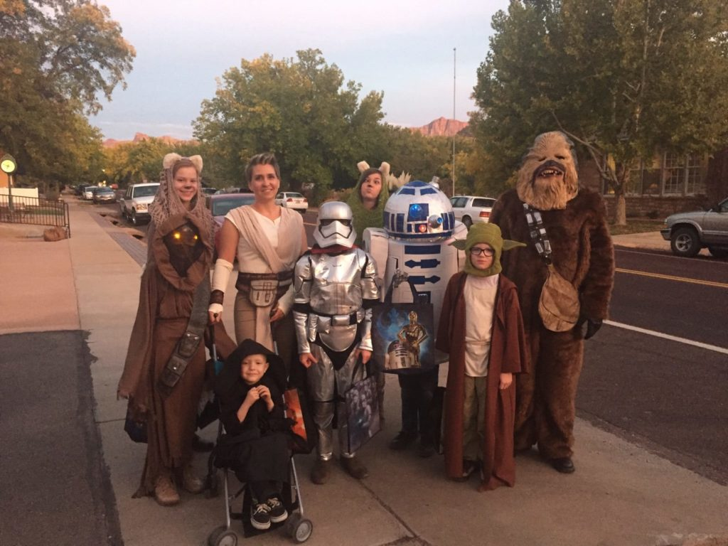 "The Campbell family dresses up as ""Star Wars"" characters for Halloween, location not specified, circa October, 2016 
