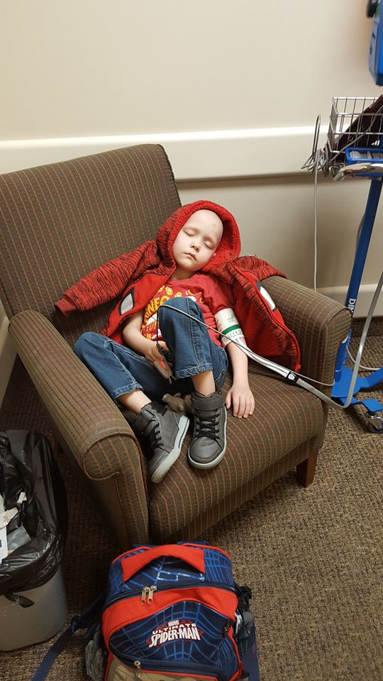 Calum Campbell undergoes treatment for his cancer, location and date not specified   Photo courtesy of the Campbell family, St. George News