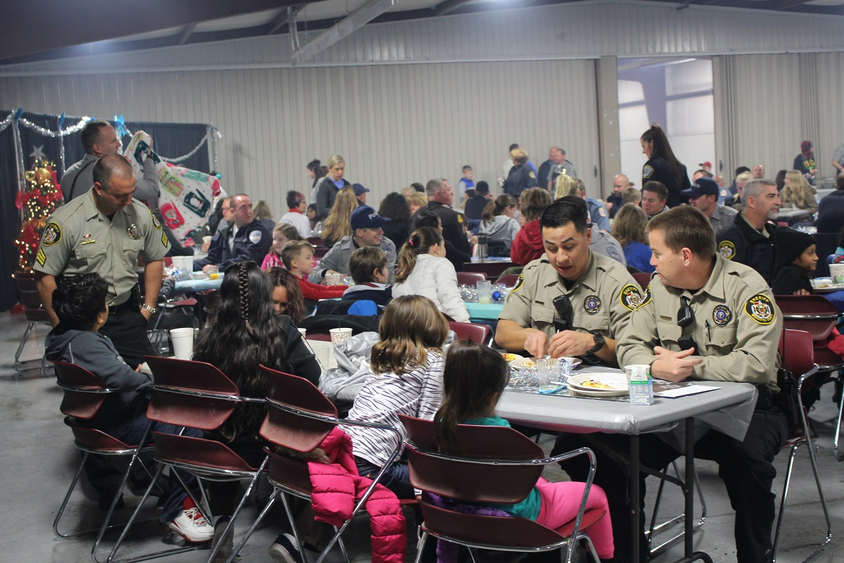 More than 300 children, officers and administrative help participated in the Shop with a Cop Breakfast at the Washington County Fairgrounds Saturday morning, Washington County, Utah, Dec. 17, 2016 | Photo by Cody Blowers, St. George News