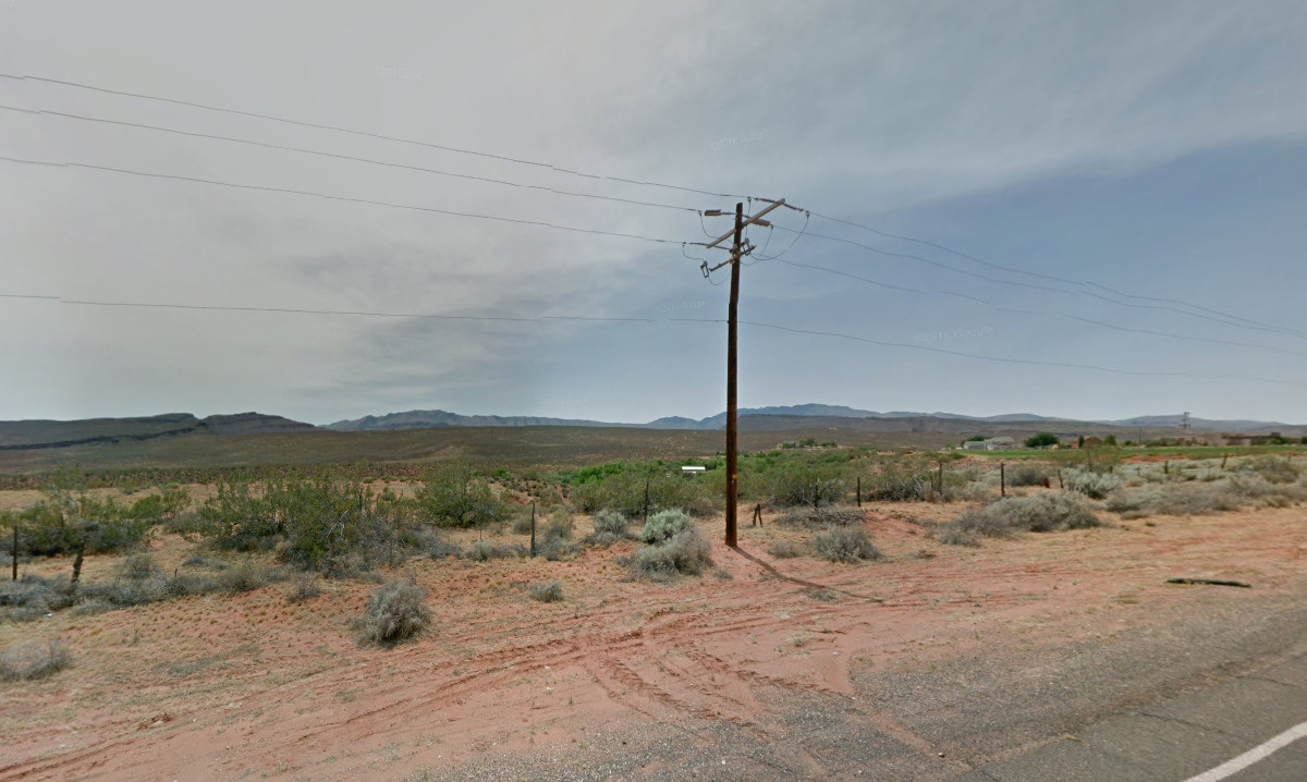 The area for a proposed Zone Change of 24.52 acres from Residential/Agricultural to RV Resort located on the south side of Highway 91 at approximately 100 West, Ivins, Utah, June, 2016 | Map courtesy of Google Maps, St. George News