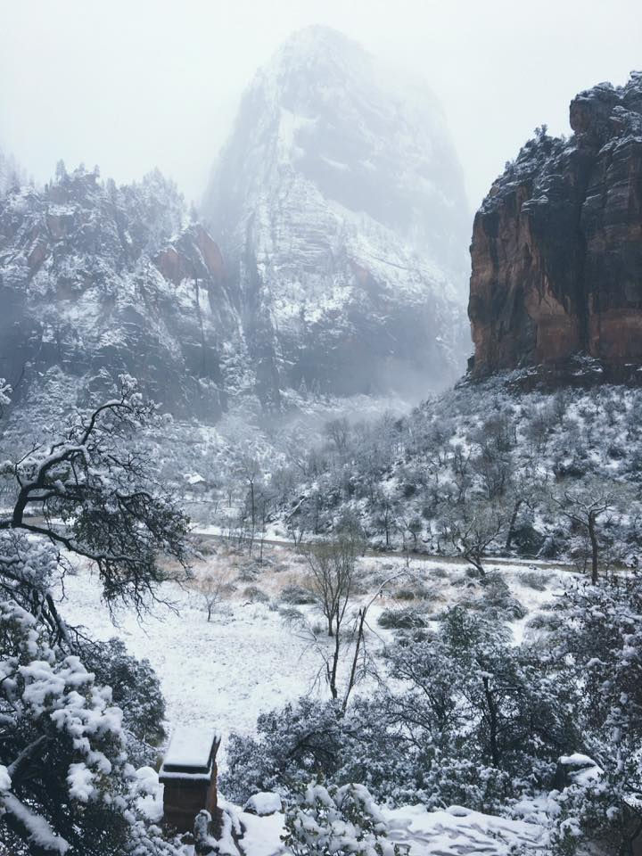 The Great White Throne in Zion National Park, Springdale, Utah, Dec. 24, 2016 | Photo courtesy of Zion National Park via Facebook, St. George News