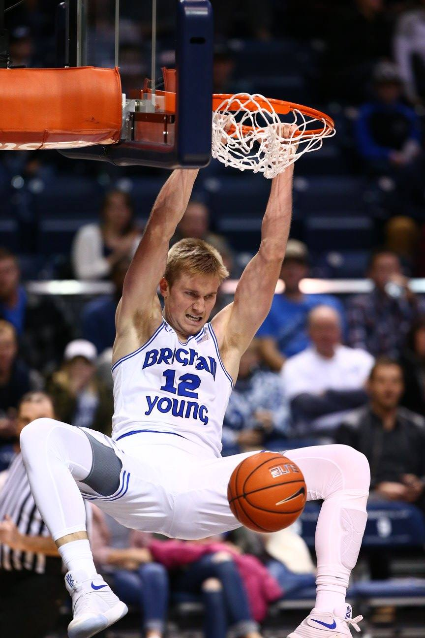 Eric Mika, BYU vs. Idaho State, Provo, Utah, Dec. 20, 2016 | Photo by BYU Photo