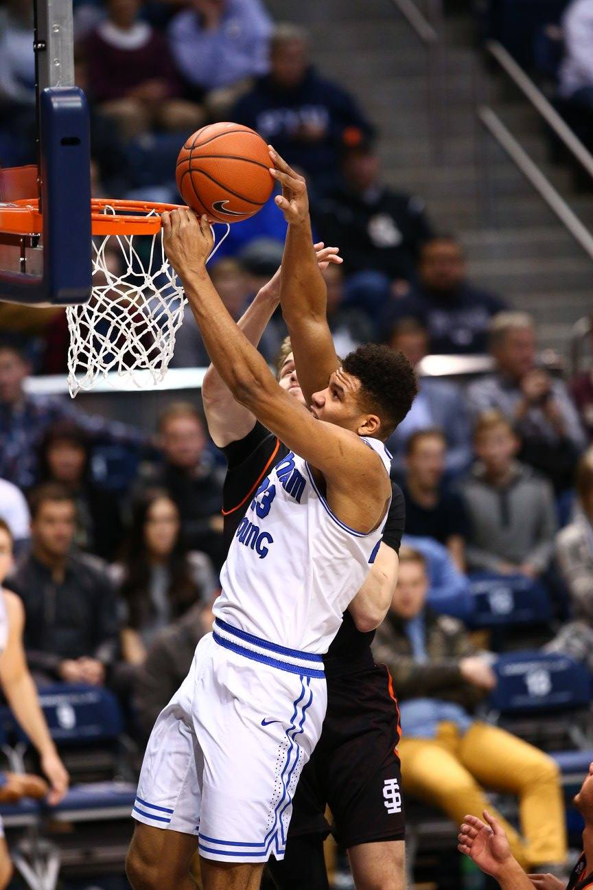 Yoeli Childs, BYU vs. Idaho State, Provo, Utah, Dec. 20, 2016 | Photo by BYU Photo
