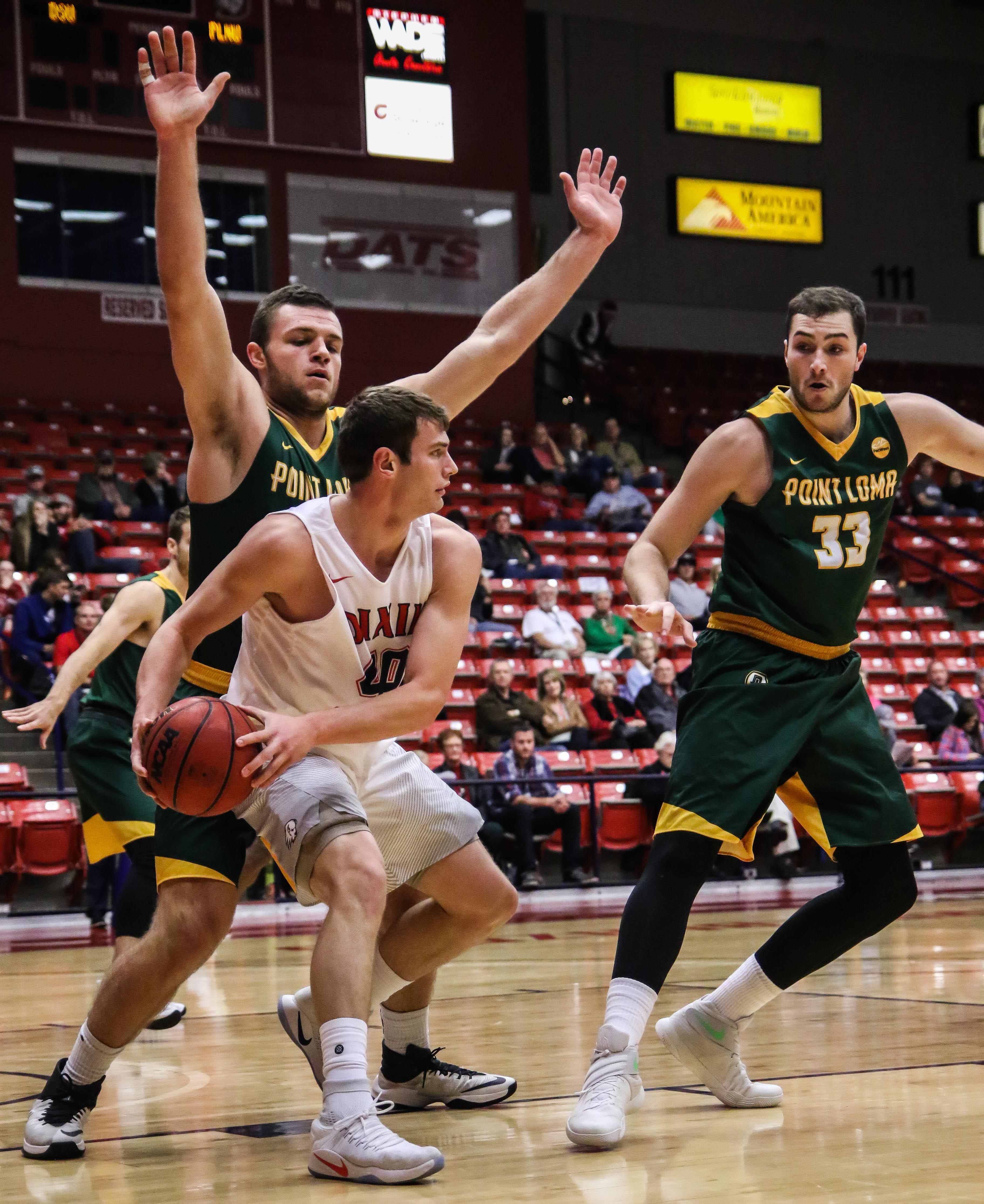 Dixie State's Josh Fuller (40), Dixie State University vs Point Loma Nazarene  University, Men's Basketball, St. George, Utah, Dec. 19, 2016, | Photo by Kevin Luthy, St. George News