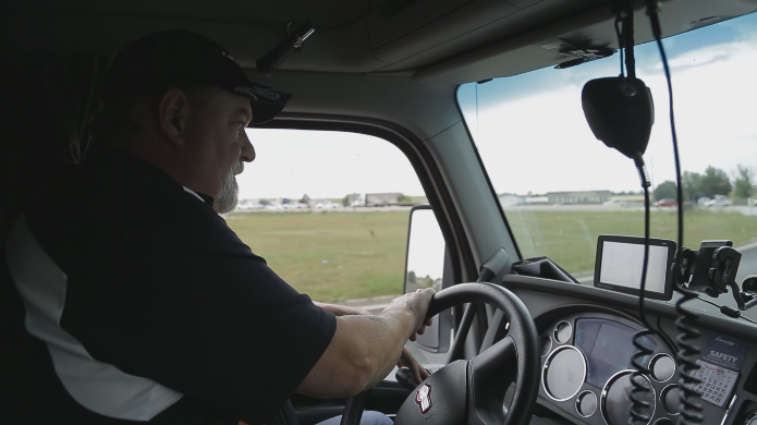 Kevin Kimmel drives a truck for Conway. His training allowed him to spot suspicious activity leading to the rescue of a victim and the arrest of two traffickers, date and location not specified | Photo courtesy of Truckers Against Trafficking, St. George News