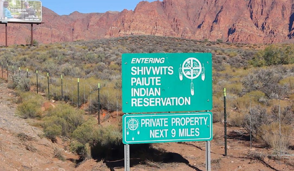 Shivwits Reservation sign near Ivins, Washington County, Utah, Nov. 23, 2016 | Photo by Mike Cole, St. George News