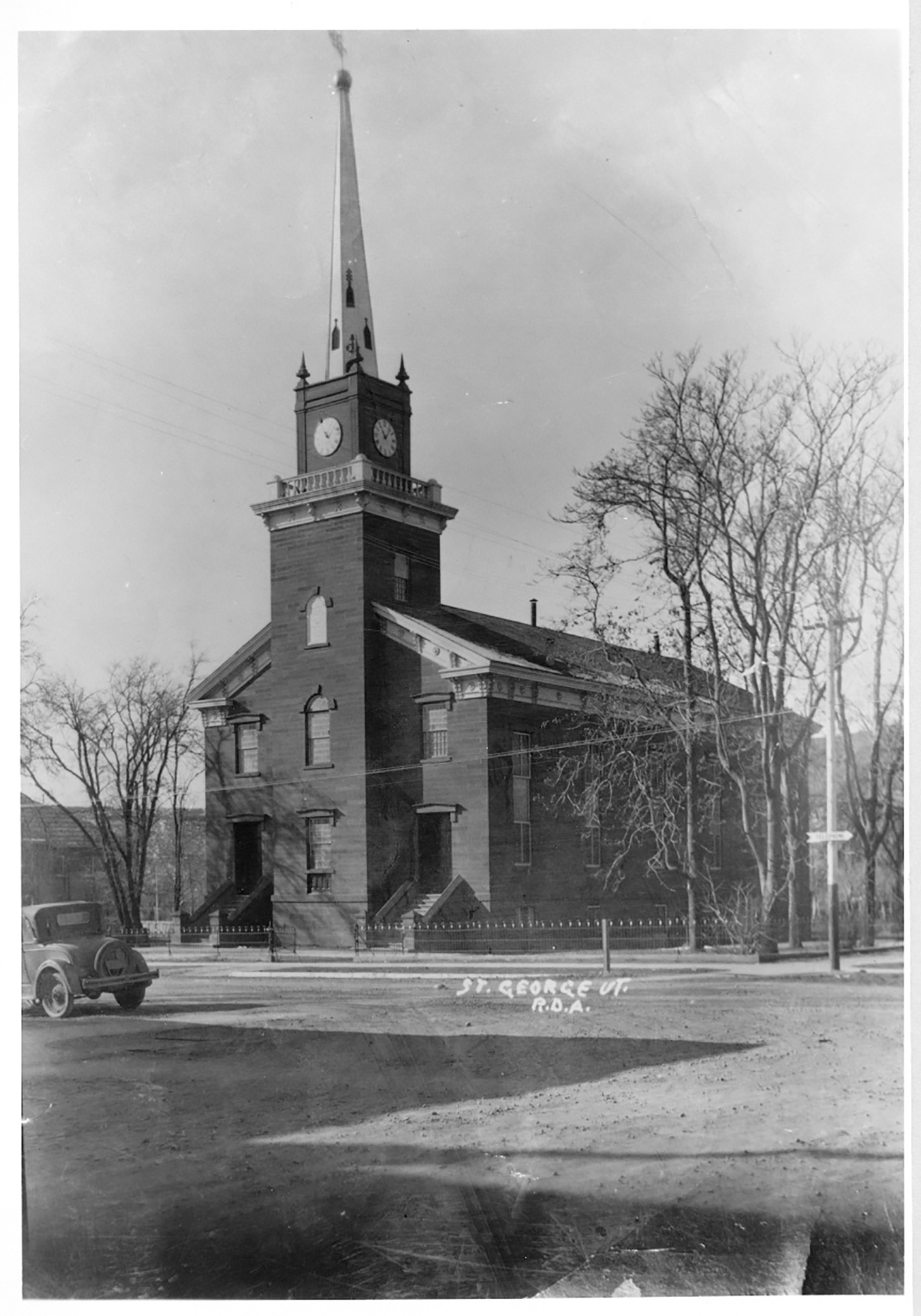 An historic photo of the Tabernacle from the 1930s, St. George, Utah, circa 1930 | Photo courtesy of The Church of Jesus Christ of Latter-day Saints, St. George News