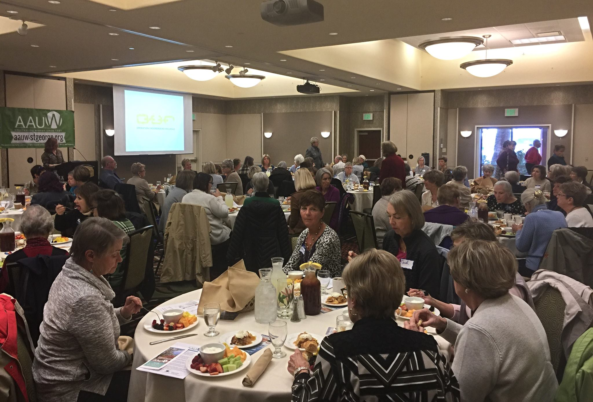 Members of the American Association of University Women gather at a luncheon to discuss some of the issues of human trafficking, St. George, Utah, Jan. 9, 2017 | Photo by Kimberly Scott, St. George News