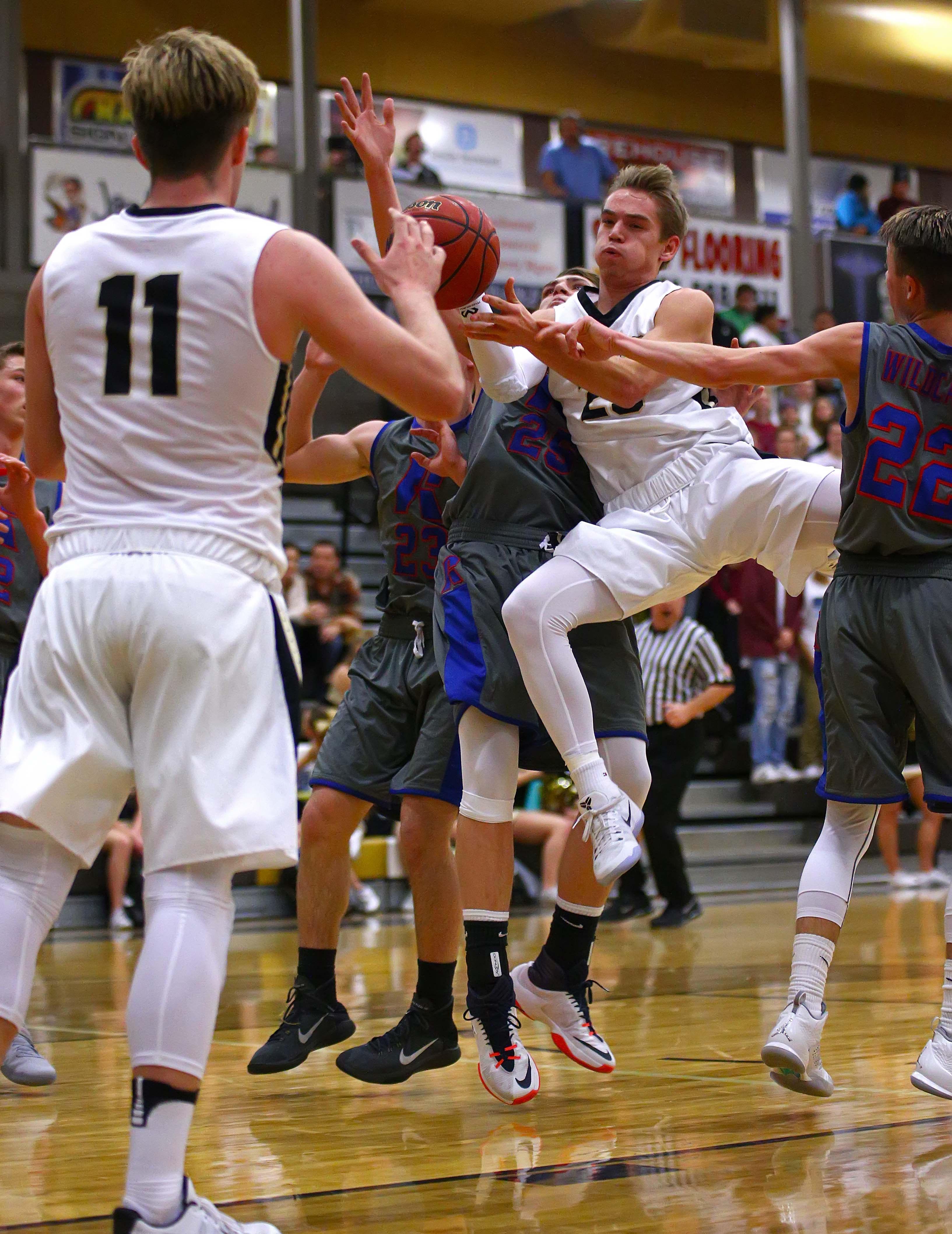 Desert Hills' Logan Hokanson (23), Desert Hills vs. Richfield, Boys Basketball, St. George, Utah, Jan. 6, 2017, | Photo by Robert Hoppie, ASPpix.com, St. George News