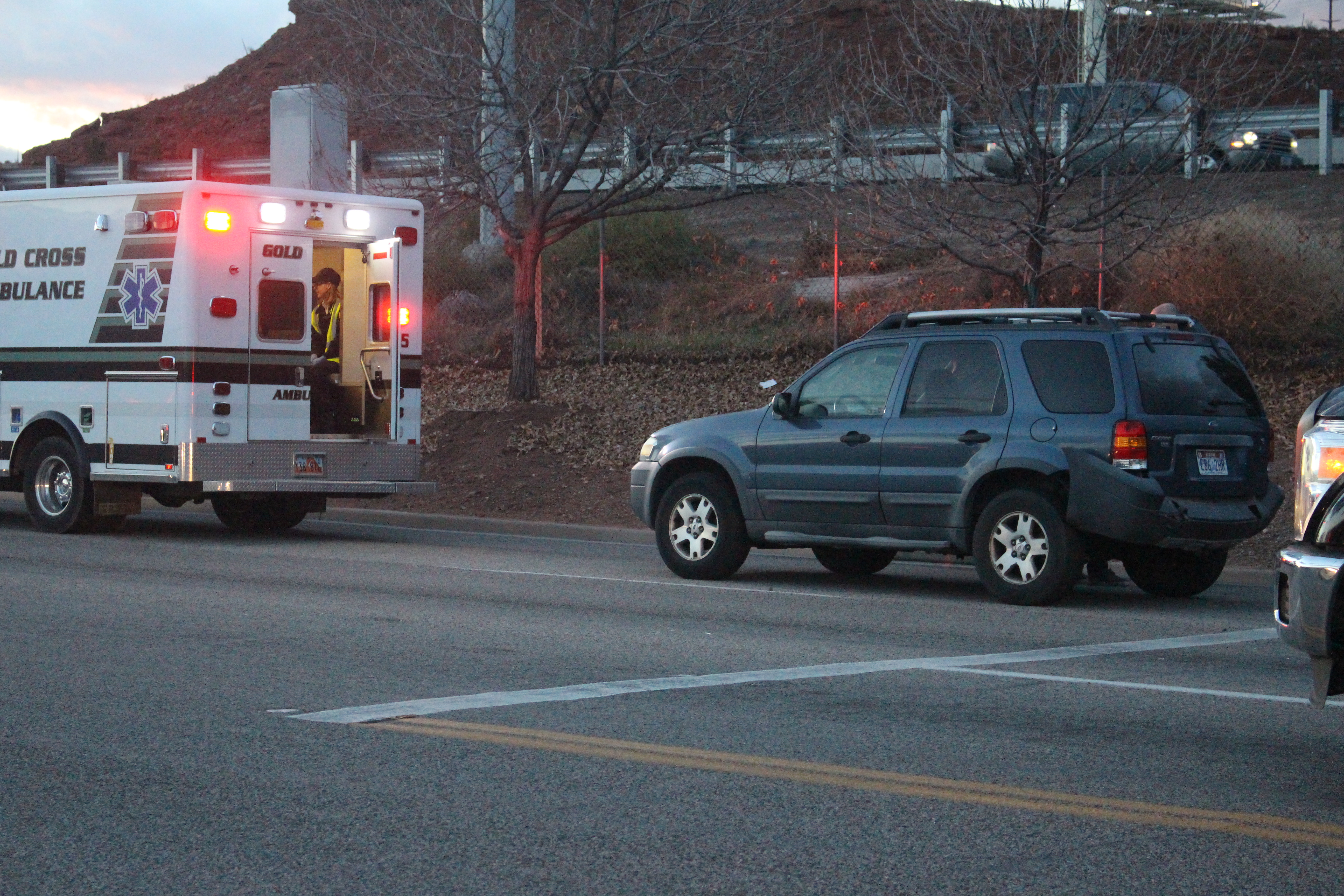 Emergency personnel respond to the scene of a collision on Red Cliffs Drive, St. George, Utah, Jan. 9, 2017 | Photo by Joseph Witham, St. George News