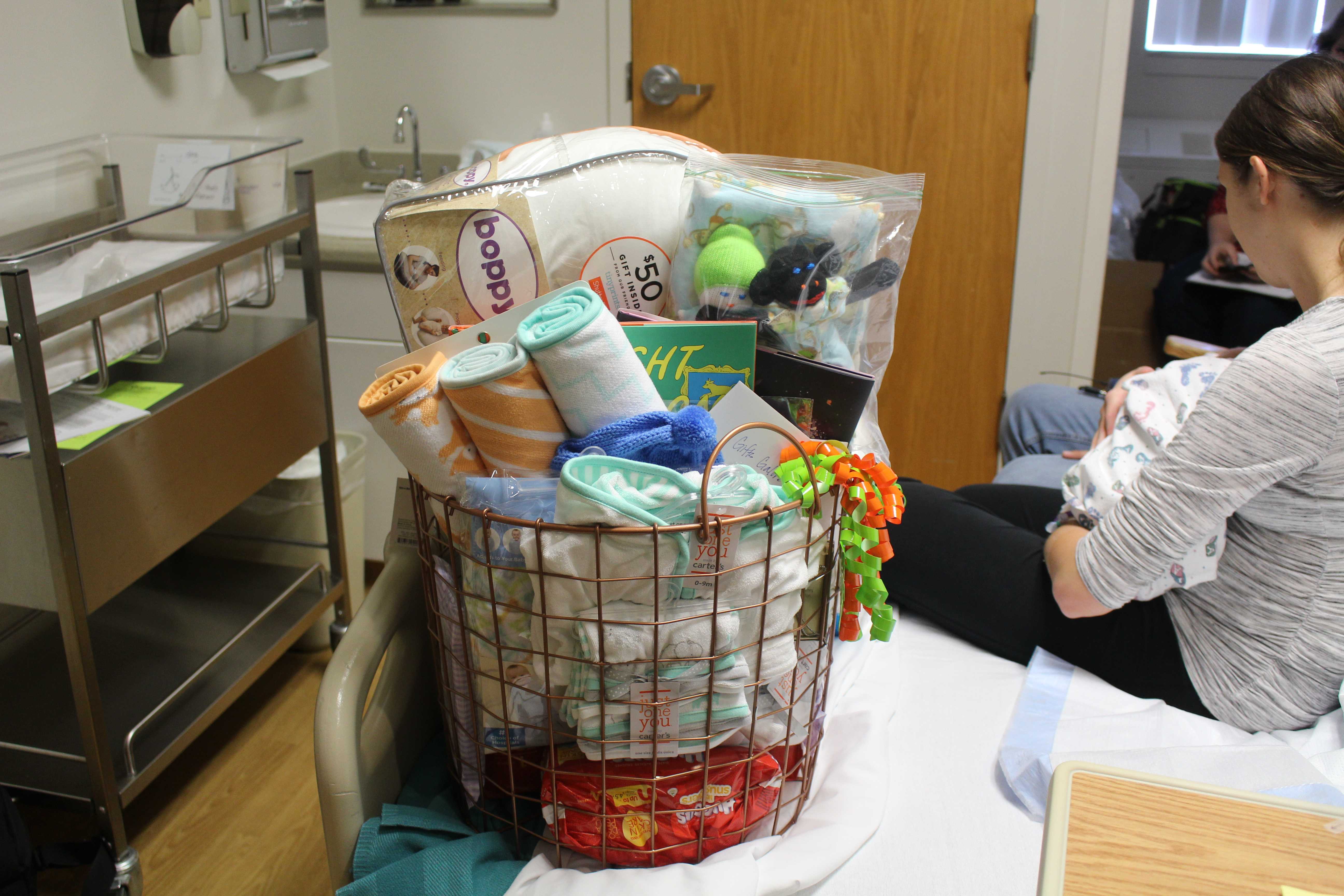 Basket of baby items from Dixie Regional Medical Center for 'Baby New Year 2017' presented to Josh and Amy Pruett at the hospital's 400 East Campus where Benjamin Pruett was born Sunday, St. George, Utah, Jan. 1, 2017 | Photo by Cody Blowers, St. George News
