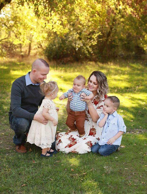 Jake Shepherd with his wife and three children, location and date unspecified | Photo courtesy of Facebook event page, St. George News