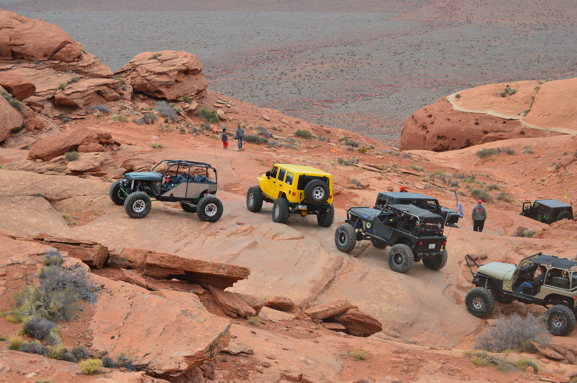Participants in the 2016 Winter 4x4 Jamboree enjoy a trail in the Sand Mountain OHV Area, Hurricane, Utah, Jan. 22, 2016 | Photo courtesy of Desert Roads and Trails Society, St. George News