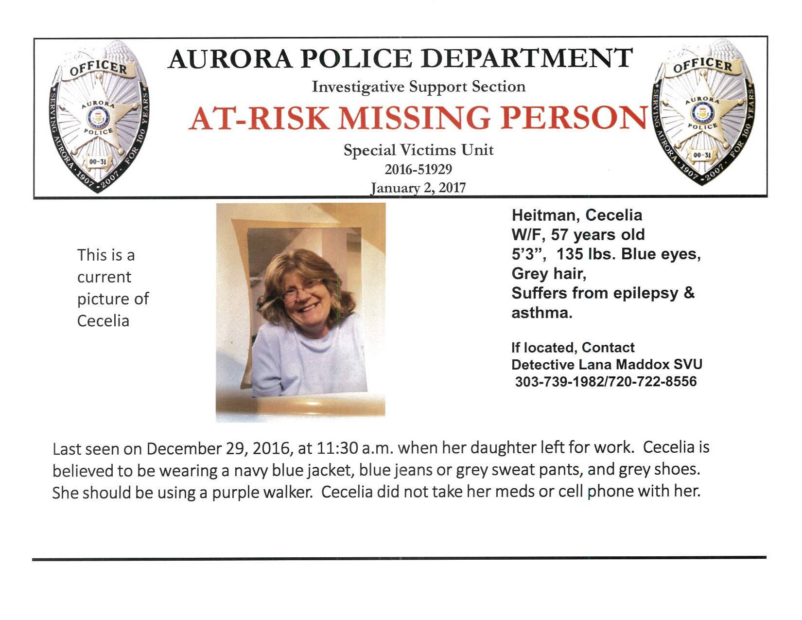 Missing poster courtesy of the St. George Police Department, St. George News