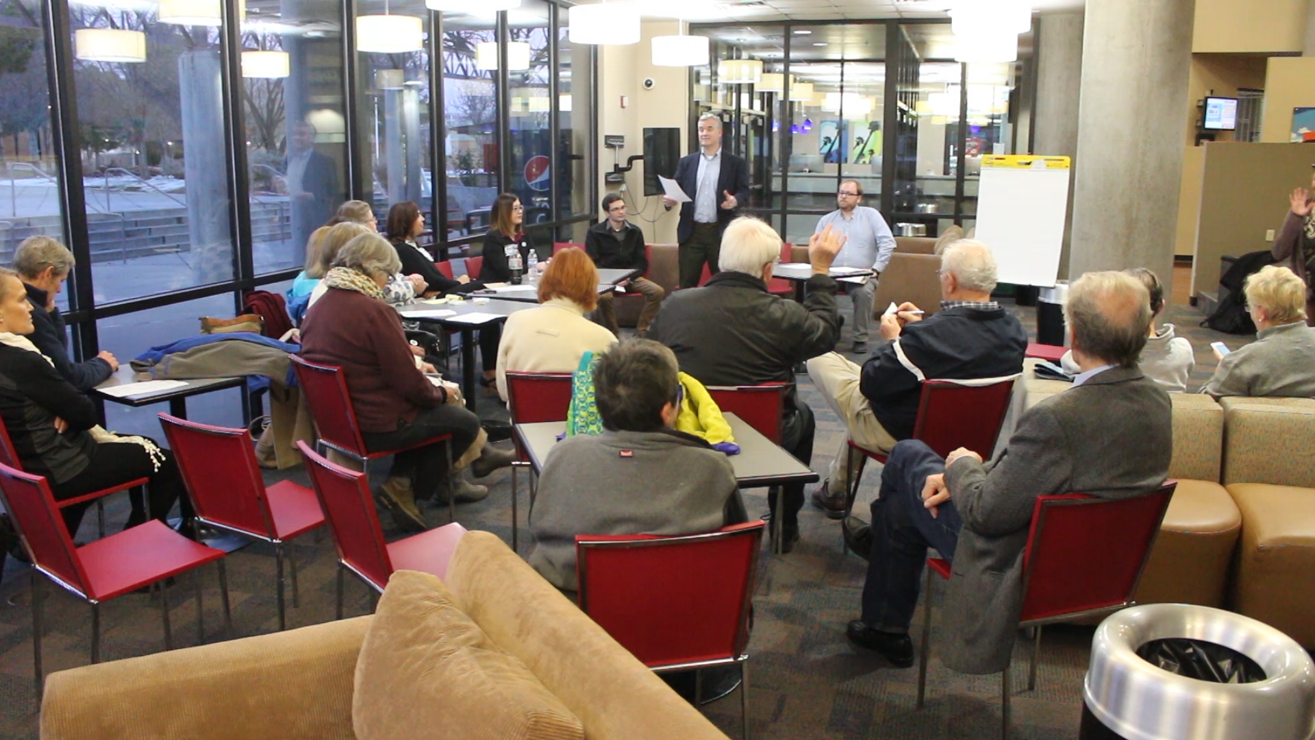 Area Democrats gather at the Gardner Center on the Dixie State University campus to meet with Peter Corroon, chair of the Utah Democratic Party, and discuss how the state party can refocus its efforts and outreach in the coming year and beyond, St. George Utah, Jan. 6, 2017 | Photo by Mike Cole, St. George News